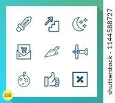 modern  simple vector icon set...   Shutterstock .eps vector #1144588727
