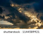 dramatic cloudscape with... | Shutterstock . vector #1144589921