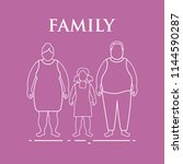 family. mom  dad and daughter.... | Shutterstock .eps vector #1144590287