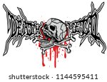gothic sign with skull and... | Shutterstock .eps vector #1144595411