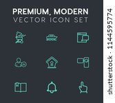 modern  simple vector icon set... | Shutterstock .eps vector #1144595774