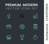 modern  simple vector icon set... | Shutterstock .eps vector #1144595834
