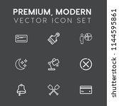 modern  simple vector icon set...   Shutterstock .eps vector #1144595861