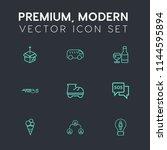 modern  simple vector icon set... | Shutterstock .eps vector #1144595894