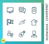 modern  simple vector icon set... | Shutterstock .eps vector #1144595987