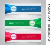 vector abstract banner design... | Shutterstock .eps vector #1144604921