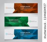 vector abstract banner design... | Shutterstock .eps vector #1144604927