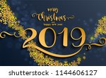 merry christmas greetings and... | Shutterstock .eps vector #1144606127