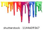colorful paint dripping... | Shutterstock . vector #1144609367