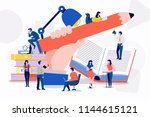 teamwork businessman creative... | Shutterstock .eps vector #1144615121