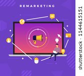 flat design concept digital... | Shutterstock .eps vector #1144615151
