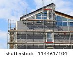 residential home with... | Shutterstock . vector #1144617104