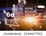 six sigma   set of techniques... | Shutterstock . vector #1144617431