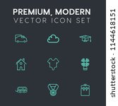 modern  simple vector icon set... | Shutterstock .eps vector #1144618151