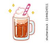 Cute Cartoon Root Beer Float...