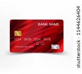 modern credit card template...   Shutterstock .eps vector #1144626404