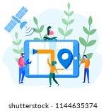 concept satellite gps  gps... | Shutterstock .eps vector #1144635374