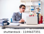 businessman working with... | Shutterstock . vector #1144637351