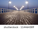 sunrise on the pier at the...