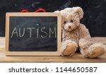 autism and school. teddy bear... | Shutterstock . vector #1144650587
