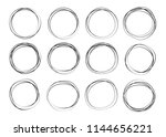 doodle sketched circles. doodle ...   Shutterstock .eps vector #1144656221