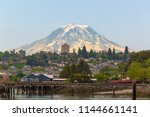 Mount Rainier Over The City Of...
