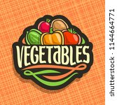 logo for fresh vegetables  sign ... | Shutterstock . vector #1144664771