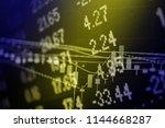 financial data in term of a... | Shutterstock . vector #1144668287