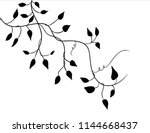 ivy vine vector design element  ... | Shutterstock .eps vector #1144668437