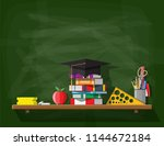 school or university blackboard.... | Shutterstock .eps vector #1144672184