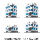 four office vector house... | Shutterstock .eps vector #114467335