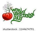 world vegetarian day | Shutterstock .eps vector #1144674791