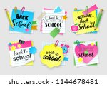 note paper set for back to... | Shutterstock .eps vector #1144678481