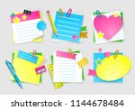 note paper set for back to... | Shutterstock .eps vector #1144678484