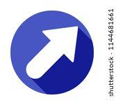 bold arrow icon in flat long...