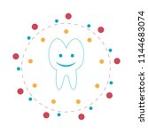 smile tooth icons in flat...   Shutterstock .eps vector #1144683074