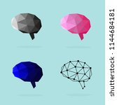 set of human brain icons based... | Shutterstock .eps vector #1144684181