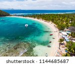 aerial drone view of tropical... | Shutterstock . vector #1144685687
