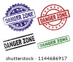 danger zone seal prints with... | Shutterstock .eps vector #1144686917