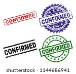 confirmed seal prints with... | Shutterstock .eps vector #1144686941