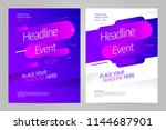 vector layout design template... | Shutterstock .eps vector #1144687901
