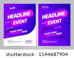 vector layout design template... | Shutterstock .eps vector #1144687904