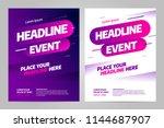 vector layout design template... | Shutterstock .eps vector #1144687907