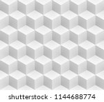 neutral gray cubes isometric... | Shutterstock .eps vector #1144688774