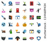 colored vector icon set  ... | Shutterstock .eps vector #1144689434