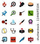 color and black flat icon set   ... | Shutterstock .eps vector #1144695104