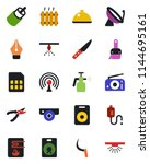 color and black flat icon set   ... | Shutterstock .eps vector #1144695161
