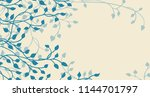 hand drawn ivy and vines in... | Shutterstock . vector #1144701797