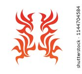 tribal flame decoration. simple ... | Shutterstock .eps vector #1144704584