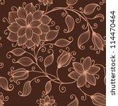 vector flower pattern element | Shutterstock .eps vector #114470464